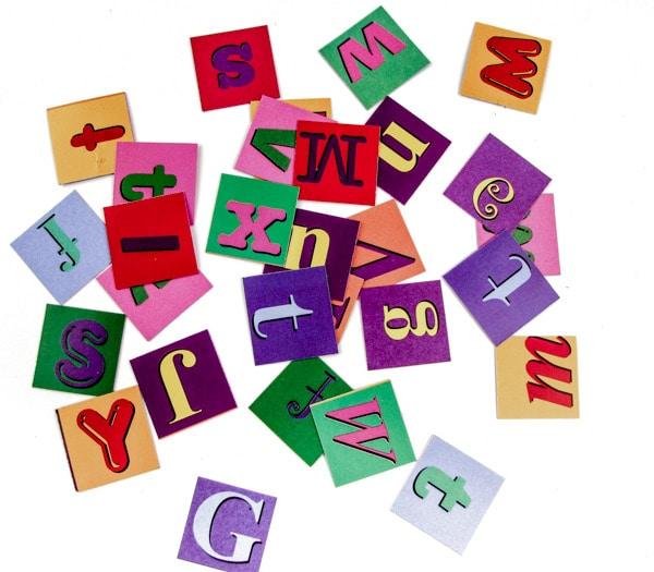 Alphabet Paper Squares