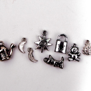 Plastic Silver Charms