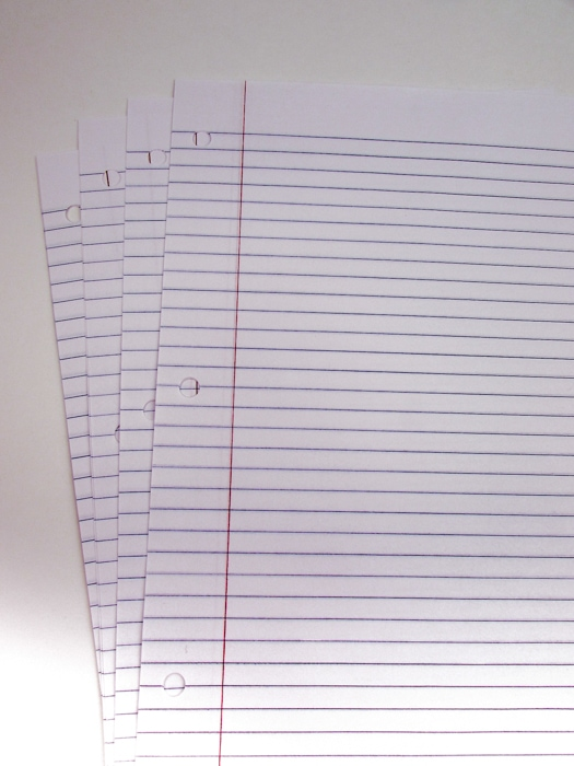 lined refill paper