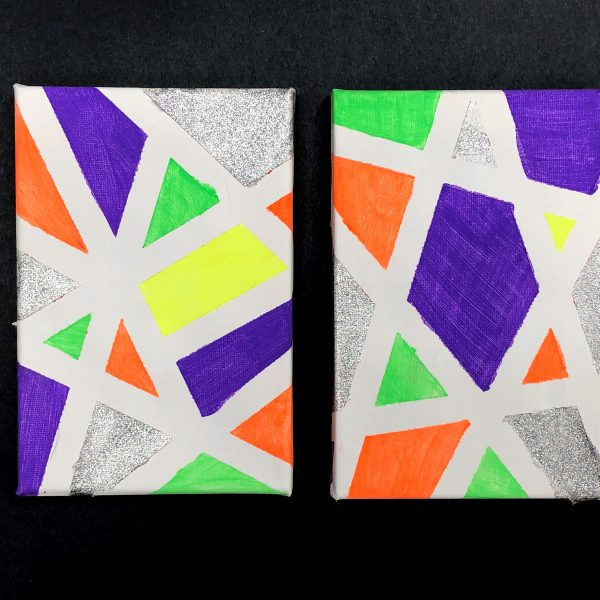 Canvas Painting With Tape: Tape Painting On Canvas